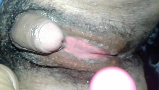 Big clit big dildo in tight small wet juicy pussy