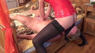 Domina Kate Truu Squirting On Her Slave Face. BDSM Session