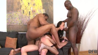 Fucked by multiple cocks in the same time in ass